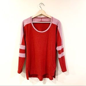 Free People | Pullover Ringer Baseball Red Small